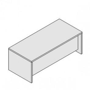 UD202AR Scrivania direzionale con base legno
