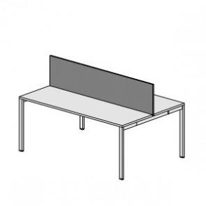 UOP202AR Schermo frontale H.40cm per scrivania o bench
